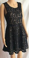 Black Lacy Floral Fit & Flare Dress Size 14 BNWT Party Occasion Wedding