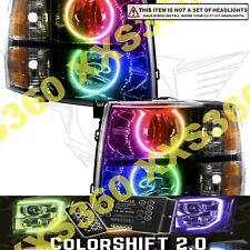 ORACLE Headlight HALO RING KIT for Chevrolet Silverado 07-13 COLORSHIFT LED 2.0