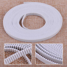 5M White PU 2GT Open End Timing Belt Steel Cords Fit For 6mm Width 3D Printer