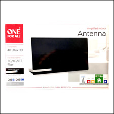 ONE FOR ALL SV9480 - Antenne intérieure amplifié 48 dB - 4K Ultra HD