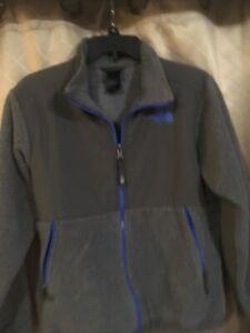 The North Face Boys Size Large Polartec Fleece Jacket Blue/gray Coat