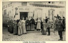 Deutsche rouge-Croix-sœurs dans sedan * document illustré 1914