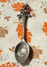 New listing Salem Massachusetts Witch on Broom Pewter Souvenir Collector's Spoon Witch City