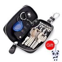 Men Woman Leather Key Wallets ID Card Holder Car Key Chain Wallet Purse + GIFT