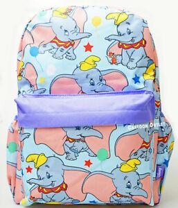 "16"" Dumbo All Over Print Large Backpack Disney kids Book Bag Side Pockets NWT"