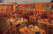INTERNATIONAL KITCHEN Niles, California Restaurant Interior ca 1950s Postcard