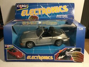 Corgi Electronics Metal Porsche 911 Boxed. 1:24