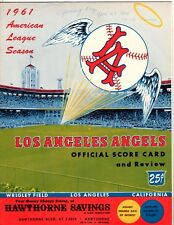 1961  Los Angeles Angels Opening Day  Scored Game Program, Ex Condition'