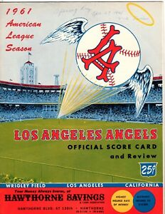 1961  Los Angeles Angels Opening Day  Scored Game Program, Ex Condition!