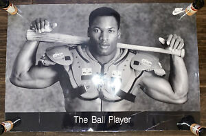 "Vintage BO JACKSON - NIKE ""THE BALL PLAYER"" Original 1988 24"" x 36"" Poster"
