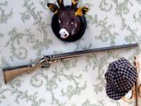 Dollhouse Miniature 1/12th Scale Representation of a Shotgun OA92