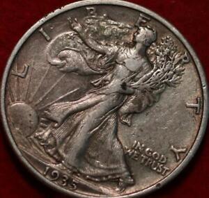 1935 Philadelphia Mint Silver Walking Liberty Half
