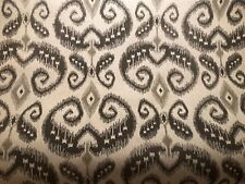 20yd PHILLIP JEFFRIES Indo Ikat Taupe Chocolate on Linen Textile Wallpaper #5596