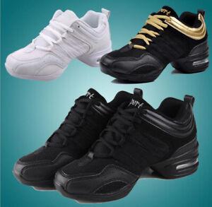 Womens Sansha Dance Sneakers Mesh Jazz Salsa Modern Shoe Hip Hop Soft-soled Hot