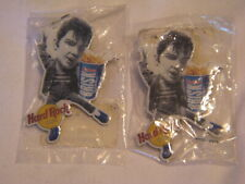 TWO ROCK N ROLL ELVIS PRESLEY BRISK LIPTON ICE TEA PINS