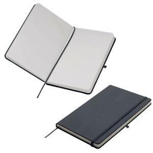 Notizbuch / DIN A5 / 160 S. / blanko / samtweiches PU Hardcover / Farbe: schwarz