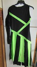 "Kids Halloween Costume ""Dead Cheerleader"" Large Black & Green"
