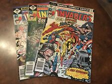 Lot of 3 Marvel The Invaders #12 13 14 comic books bronze age
