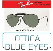 Occhiali da Sole Ray Ban RB 3030 Outdoorsman RICCIO BLACK g15 Sunglasses Ray-Ban