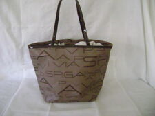 NWOT VIA SPIGA Sport Tote Bag- brown/tan signature coated fabric exterior