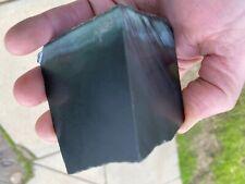 Black Nephrite Jade Block From Cowell South Australia AAA Grade Quality