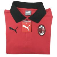 Puma Men's Small Red Black ACM AC Milan Soccer Polo NWT Football Club