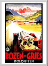 Bozen Gries Franz Lenhart ITALIANO A3 retrò vintage TRAVEL & ferrovie POSTER # 3