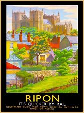 Ripon North Yorkshire England Great Britain Vintage Travel Advertisement Poster