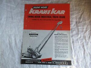 1957 Krane Kar swing-boom industrial truck crane brochure