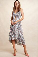 New ANTHROPOLOGIE Evanthe Pleated Dress Plenty by Tracy Reese Floral sz 2 XS NWT