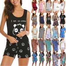 Sommer Damen Lingerie Pyjama Set Zweiteiliger Nachtwäsche Schlafanzug Loungewear