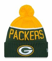 Green Bay Packers Players Sideline Sports Knit Beanie Cap Hat NFL New Era