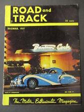 Vintage Road & Track Magazine December 1951