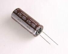 5x 470uF 100V Radial Electrolytic Aluminum Audio Capacitor 100VDC 105C