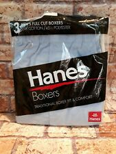 VTG New Hanes 3 Pack Men's Size Med (34-36) 1993 Color Full Cut Boxers Missing 1