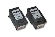 2x CARTUCHO TINTA negro para CANON PG-510 Pixma MP280