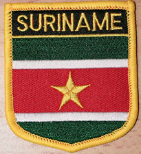 SURINAME Shield Country Flag Embroidered PATCH Badge P1