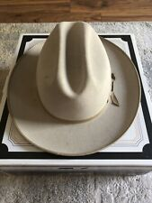 Vintage Stetson Open Road Hat 4X Beaver LARGE! 7 3/8 With Original Box