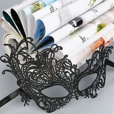 Black Costume Lace Eye Mask Venetian Masquerade Ball Party Halloween Fancy Dress