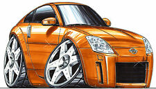 Nissan 350Z Printed Koolart Cartoon T Shirt 1782 More Colors May Be Available