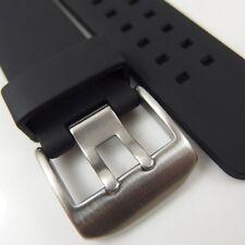 HQ 24 mm Nero in Gomma Watch Band Cinturino PU 24mm W Hamilton Porcile 22mm H chiusura in acciaio