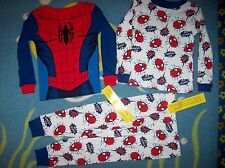 Spiderman Pajamas Sleepwear 3pc Set Boys 4Toddler Web Spinner NWT