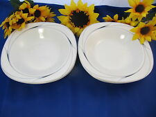 "Mikasa CAVIAR Rimmed Soup Vegetable Bowls 8 1/2"" Japan Set Of 4"