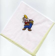 Snow white' Dwarf Embroidered  Child Hankie  #3