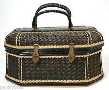 1500's - 1700 Antique Wicker Vanity Basket Heirloom Brought to USA from Ireland