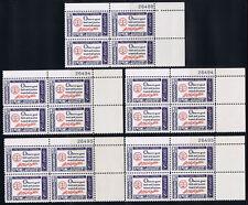 LOT of 5 - PLATE BLOCKS of 4 #1139 AMERICAN CREDO 4c