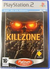 KILL ZONE - jeu video fps platinum pour console sony PlayStation 2 complet testé