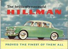ROOTES HILLMAN MINX DE LUXE SALOON AND MINX CONVERTIBLE SALES BROCHURE 1955 1956