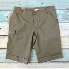 NWT DKNY Jeans 10 Womens Shorts Cotton Khaki New