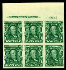 USA 314 Top Plate Block of 6 M NH VF-S 2020 Cat $325.00    PF Certificate